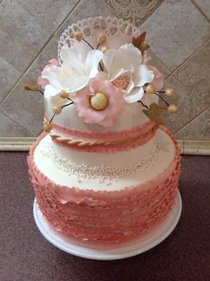 Baby and Wedding cake combined