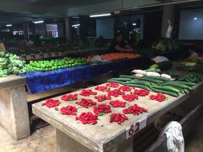 Veggie piles in the market