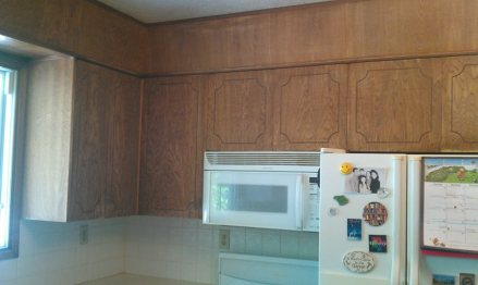 wood cupboards