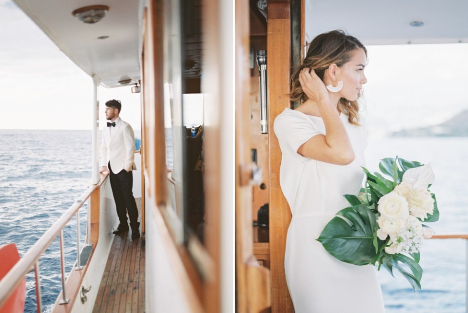 yacht engagement session in San Diego