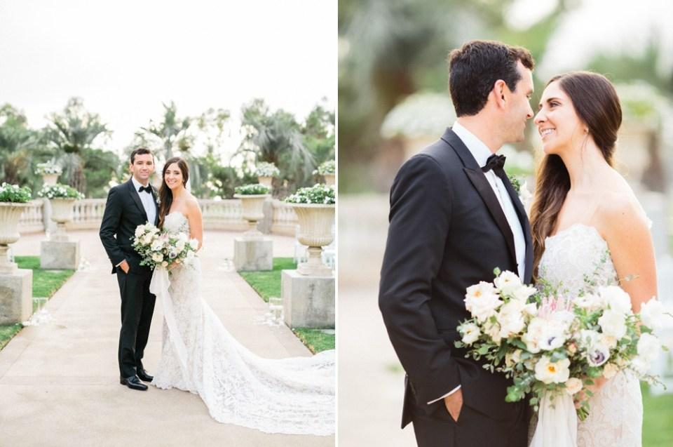 Bride and Groom At Hilton La Jolla Torrey Pines Wedding