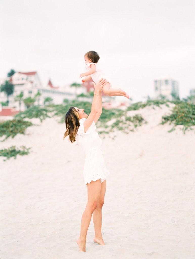 Hotel Del Coronado Family Photos | White Romper Wardrobe Inspiration