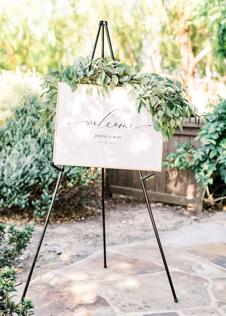 Ranch House At Del Sur Wedding In San Diego | Welcome Sign