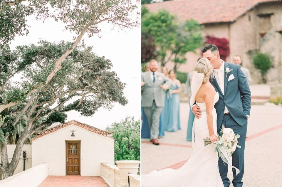 Bridal Party In Dusty Blue   Carmel Mission Monterey Wedding Venue At The Naval Postgraduate School Club Del Monte