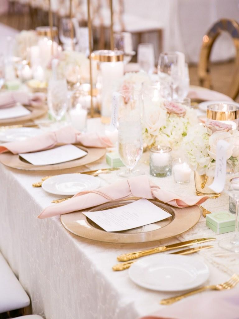 Westgate Hotel   Downtown San Diego Wedding Venue   Blush And Gold Wedding Inspiration