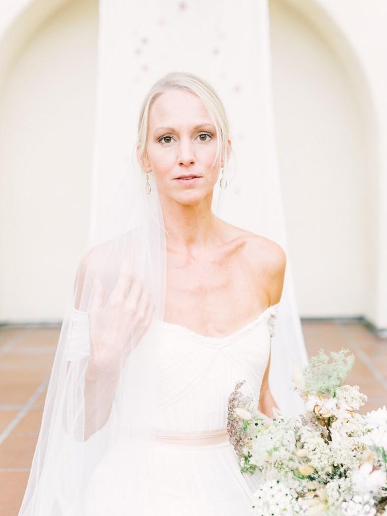 Bride At Estancia La Jolla Wedding Venue In San Diego