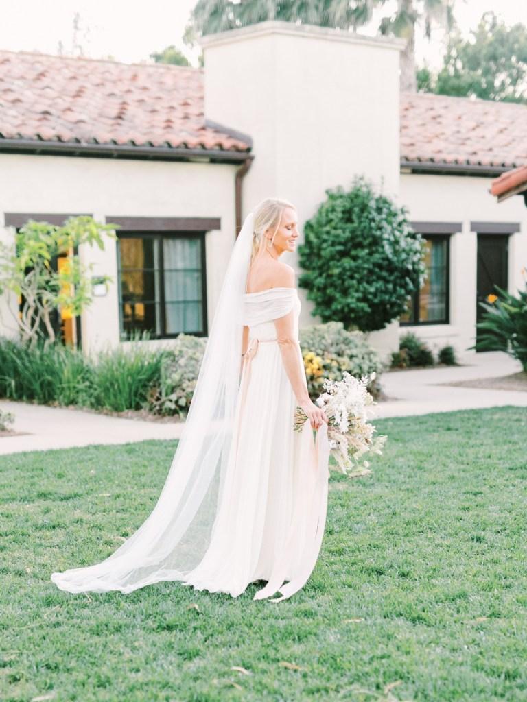 Gorgeous Bridal Sunset Portraits At Estancia La Jolla Wedding Venue In San Diego