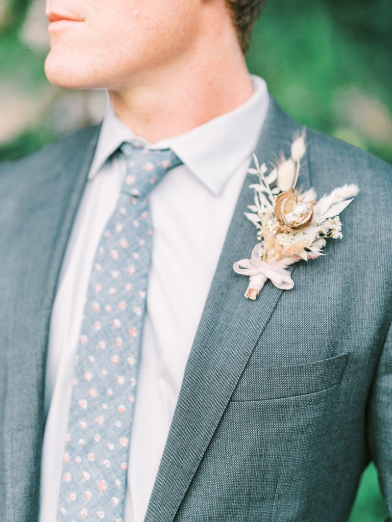 Cotton Boutonnière By Nectar and Bloom At boutonnière
