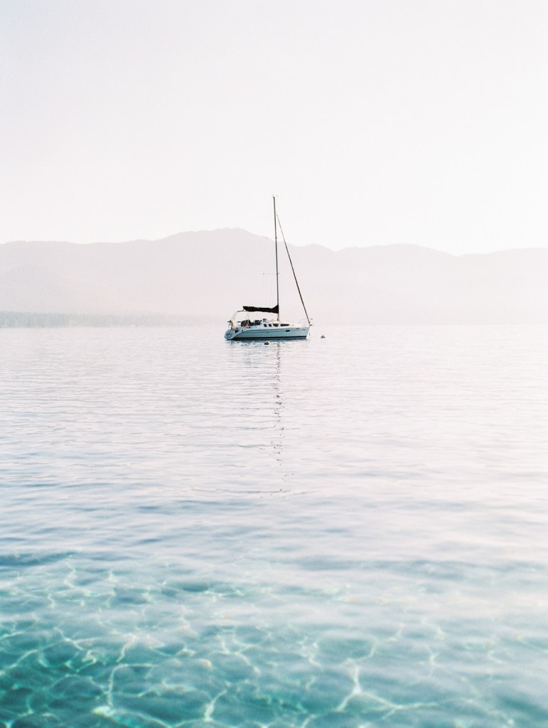 Sailboat On Lake Tahoe by wedding photographer Mandy Ford