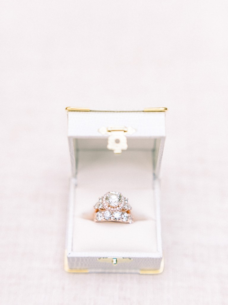 Wedding rings taken at a Resort At Squaw Creek Wedding