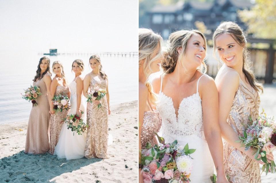 Bridesmaids at Lake Tahoe Wedding Venue