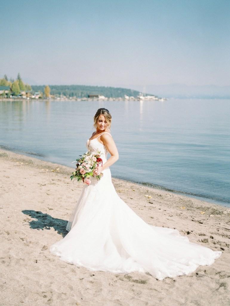 Bride at Lake Tahoe Wedding Venue