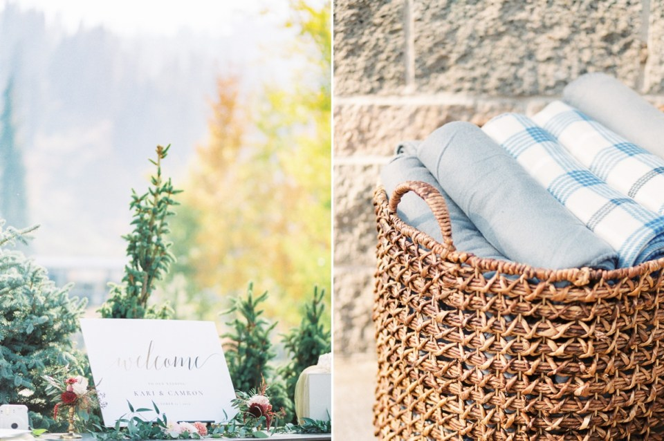 Ceremony Blanket Idea At Resort At Squaw Creek Wedding