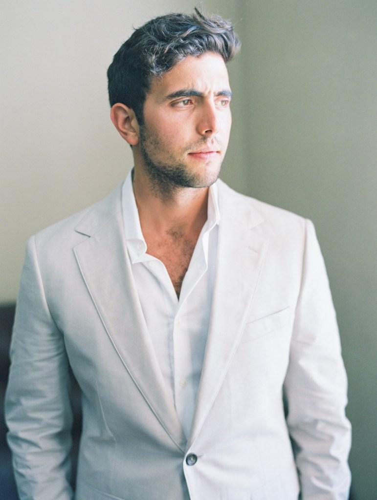 Minimalist Light Grey Suit | Orange County Jewish Wedding