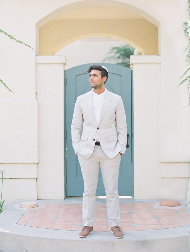 Groom Suit Inspiration | Orange County Jewish Wedding