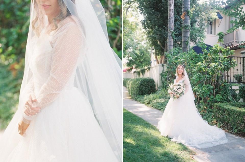 Full Polka Dot Tulle Wedding Dress | Shot on film by Wedding Photographer, Mandy Ford