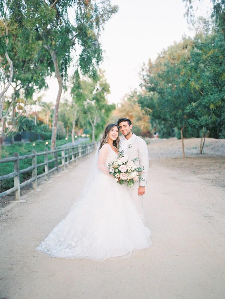 Sunset Bride and Groom Wedding Photos at Orange County Jewish Wedding