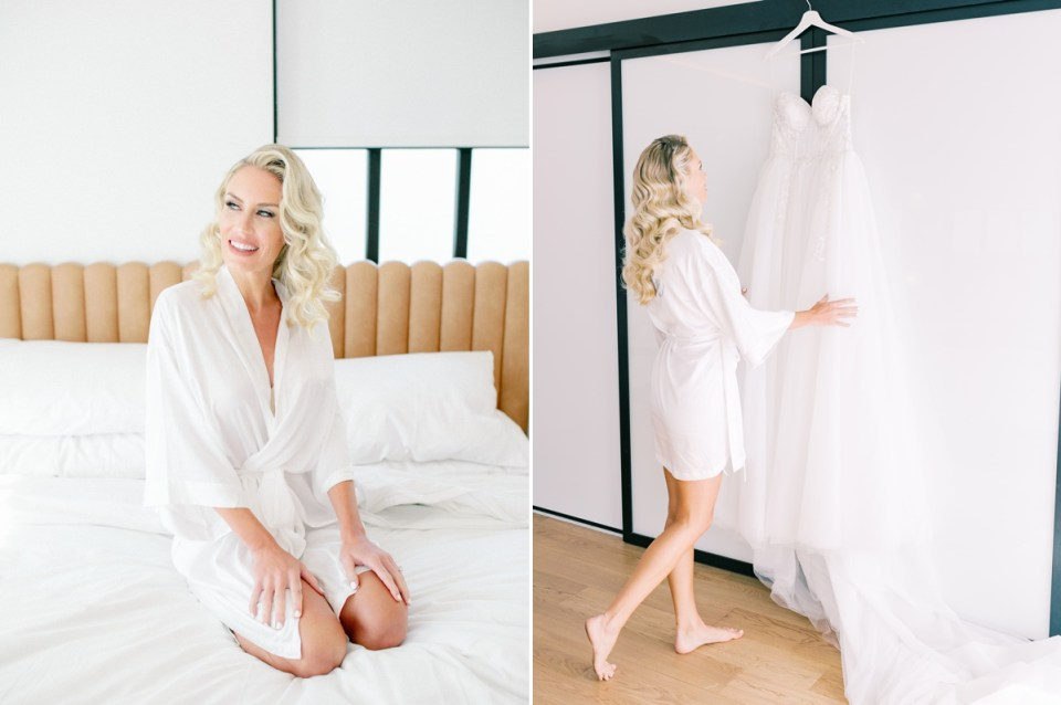 The Guild Hotel wedding venue penthouse bridal suite | Shot on film by San Diego photographer, Mandy Ford