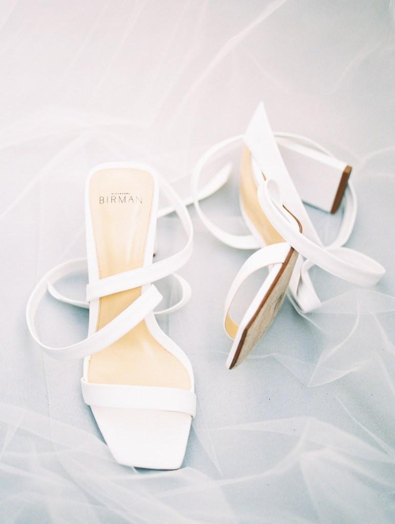 Alexander Birman Wedding Shoes at L'Auberge Del Mar Venue in San Diego