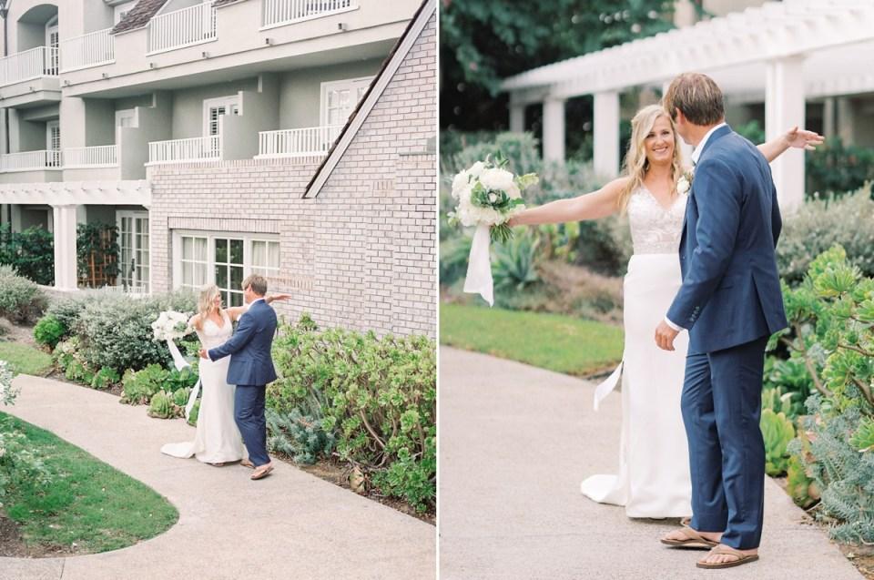 L'Auberge Del Mar Wedding Shot on Film By Mandy Ford