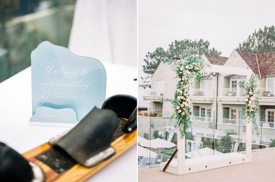 Wedding Details in Dusty Blue at L'Auberge Del Mar Wedding