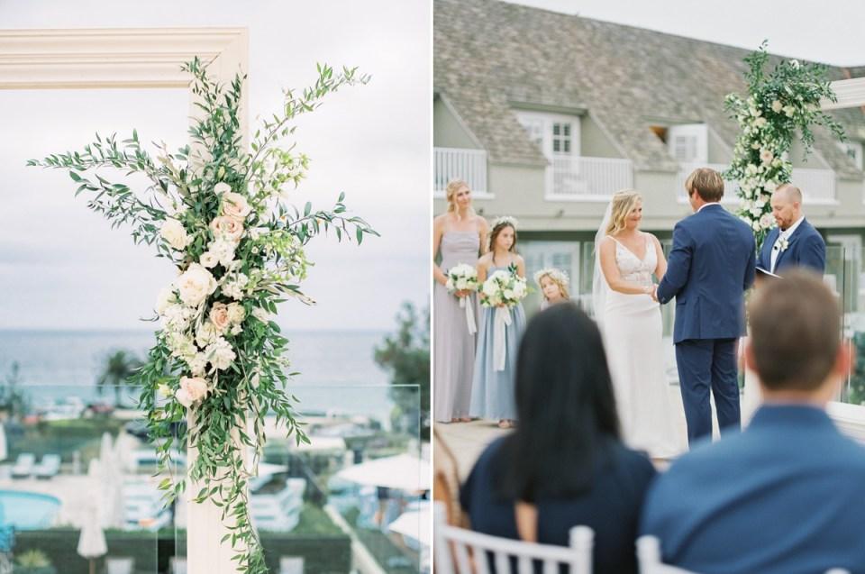 Wedding Ceremony at L'Auberge Del Mar In San Diego by Mandy Ford