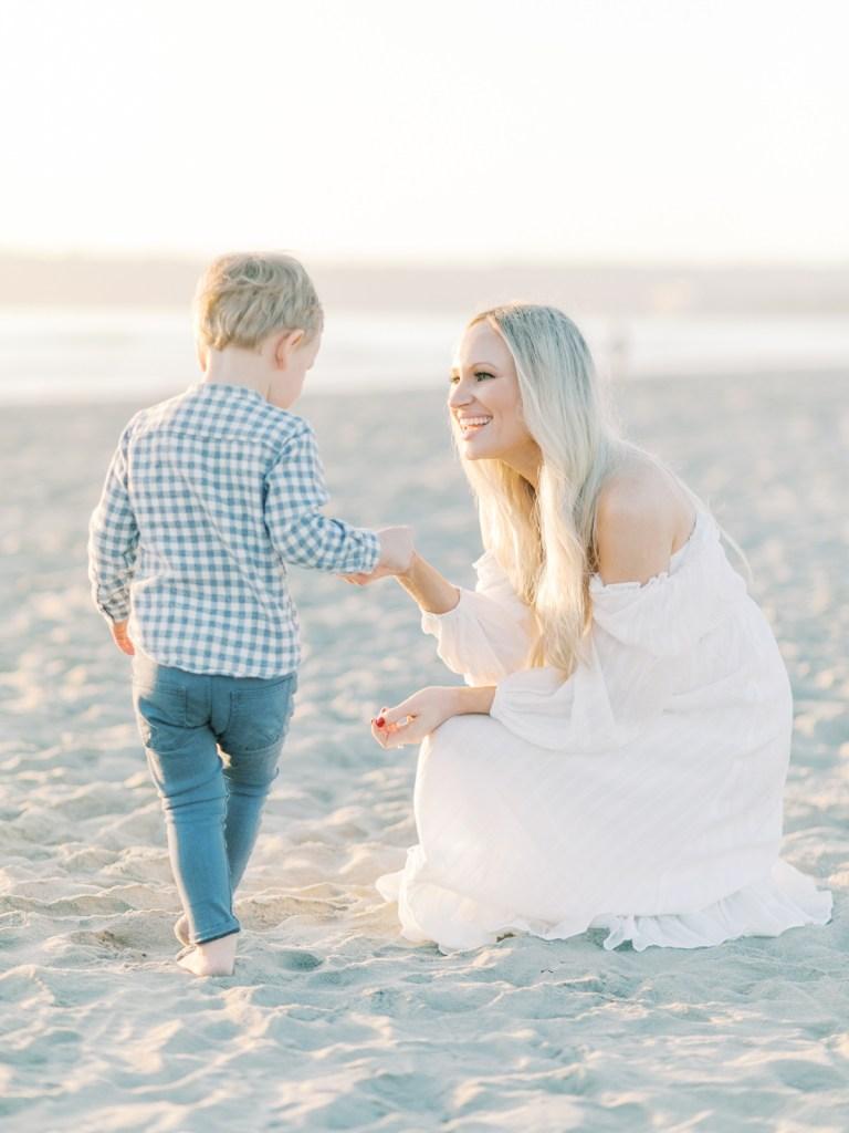Mom and Toddler At Coronado Family Photos