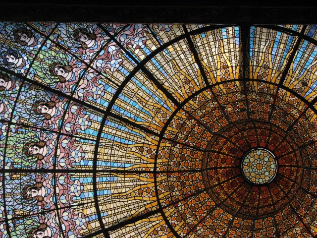 Palau de la Musica Catalan  Barcelona Spain  Copyright Mandy Sinclair