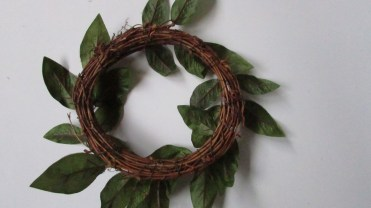 Underside of wreath