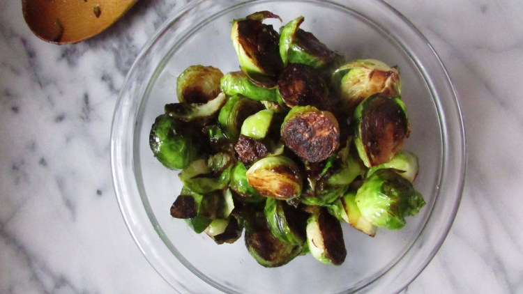 Charred Brussels sprouts