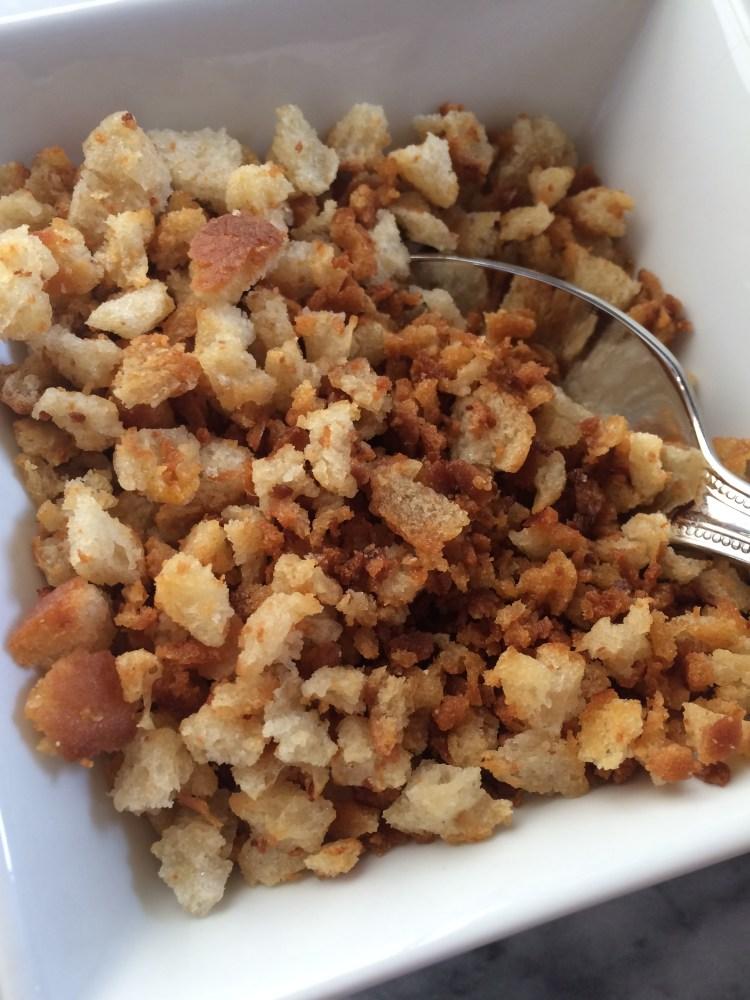 Bowl of homemade breadcrumbs