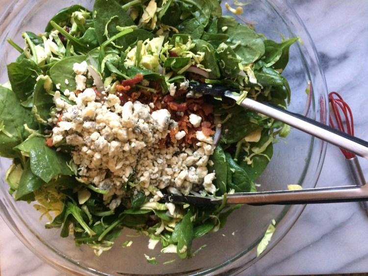 Big bowl of winter salad