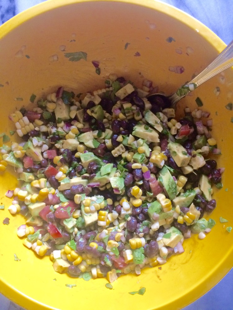 toss together all salad ingredients