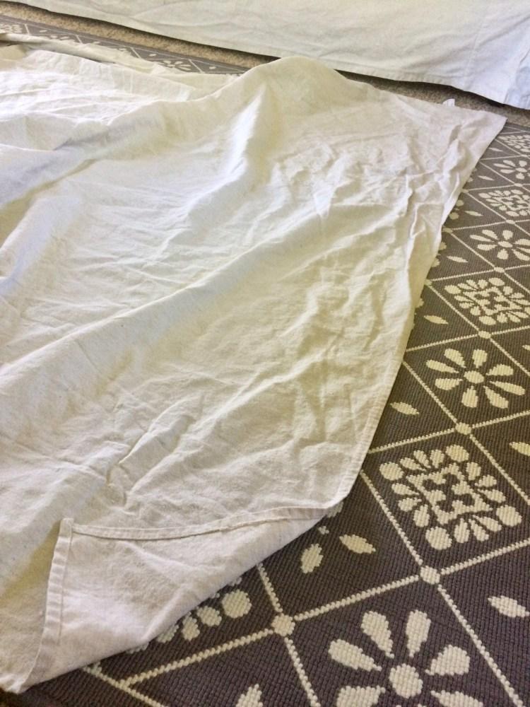 measuring drop cloth curtains