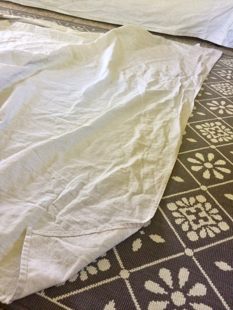 measuring drop cloth curtains