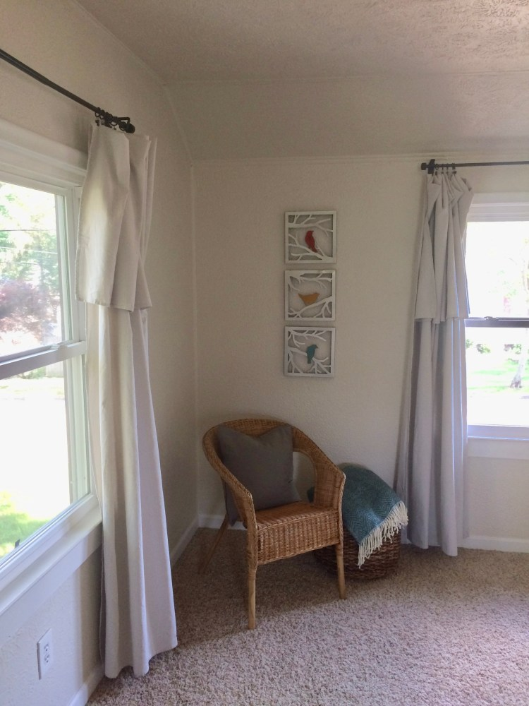 canvas drop cloth curtains using hardware store drop cloth