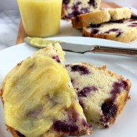 Blueberry Bread with Lemon Curd