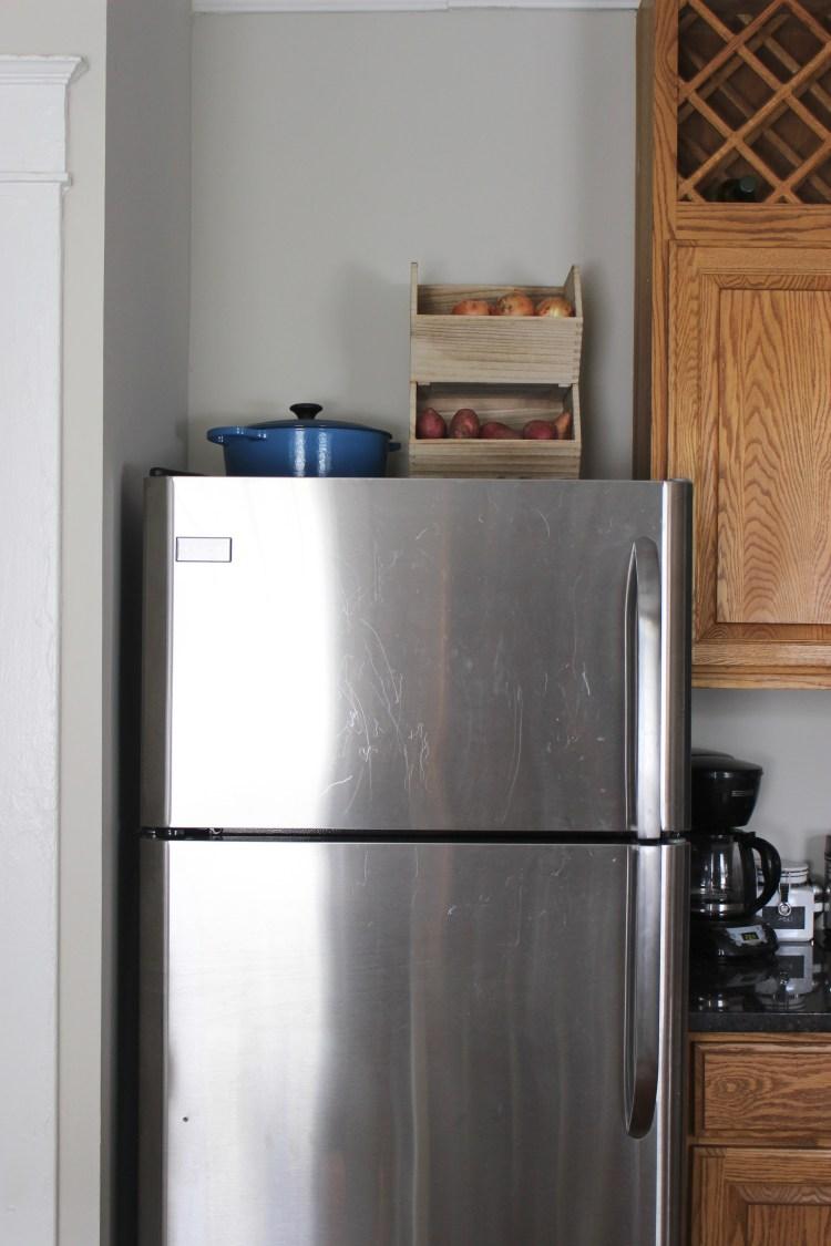 Above-fridge storage