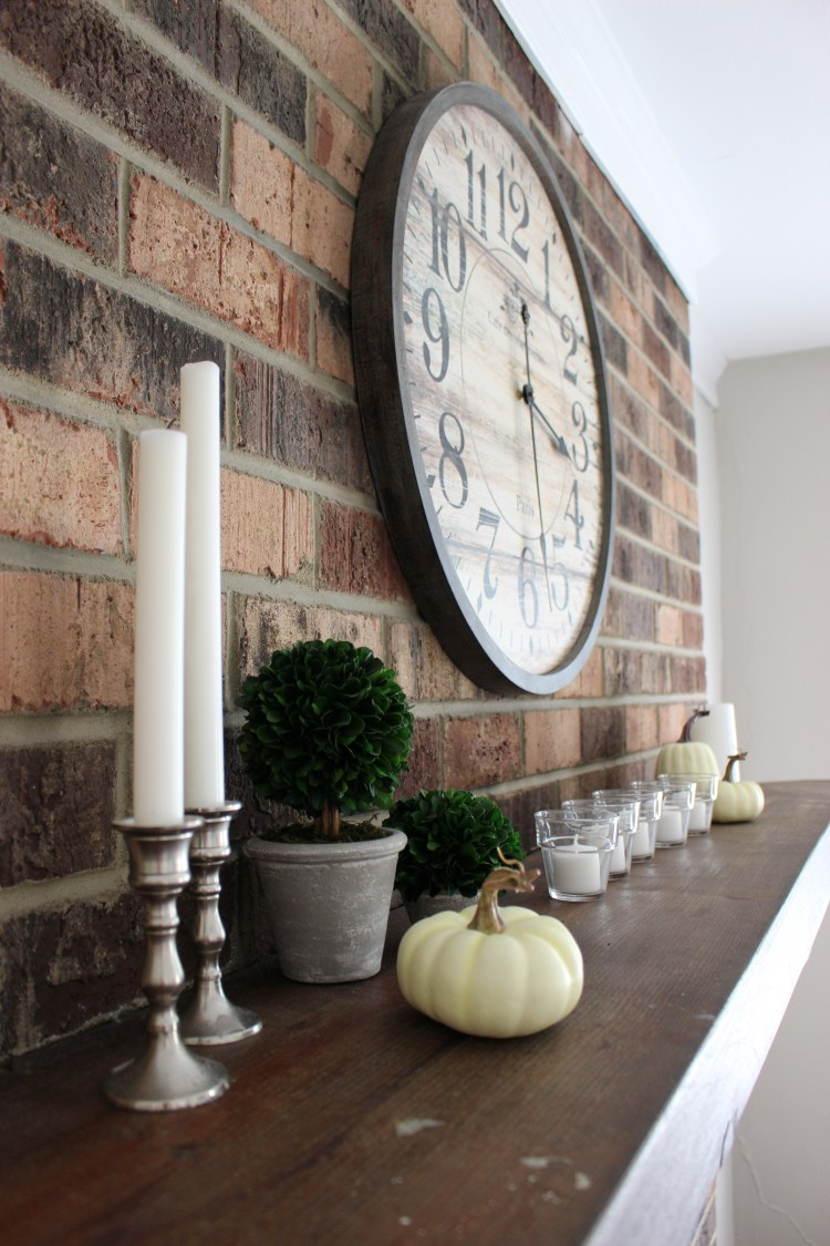 Whie Pumpkin Fall Decor