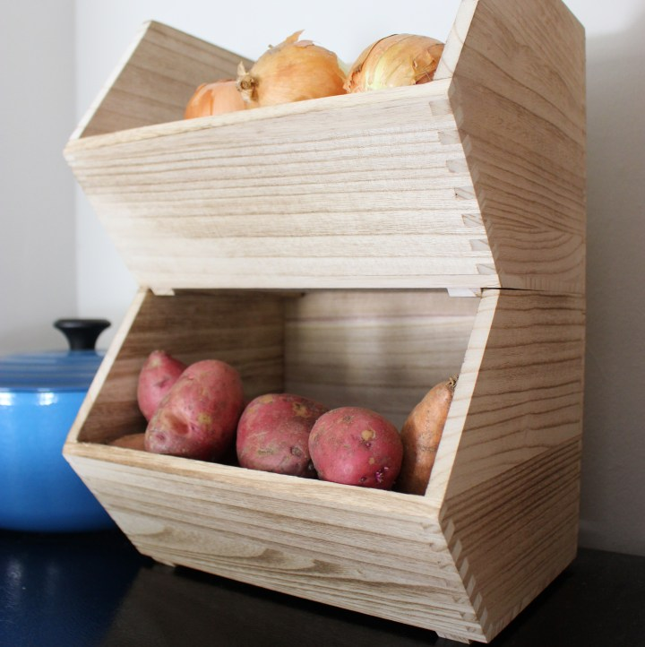 Wood crates for vegetable storage