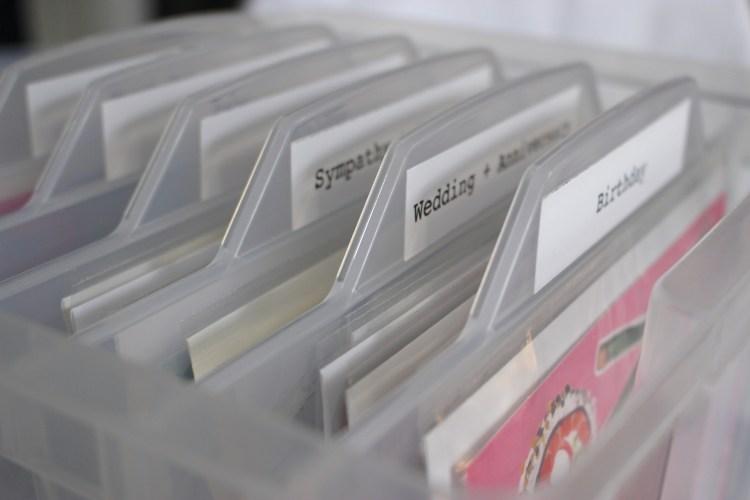 Greeting Card Stash & Storage