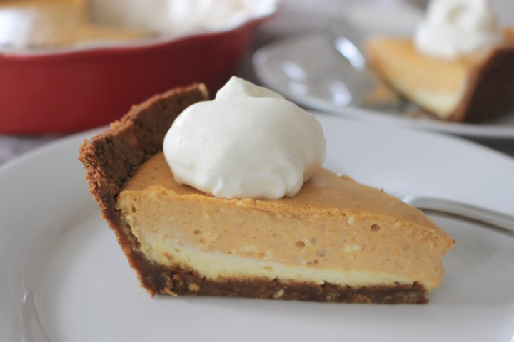 Pumpkin Cheesecake with Gingersnap Cookie Crust