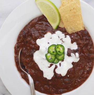 30 Minute Black Bean Soup