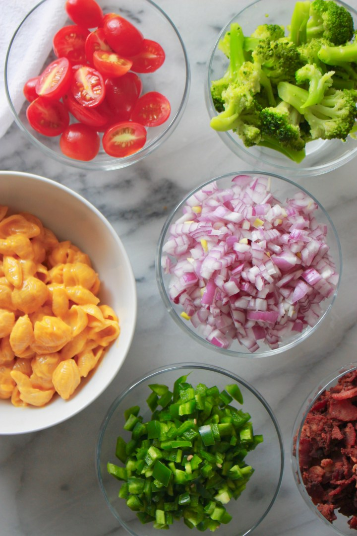 Macaroni and cheese bar topping ideas