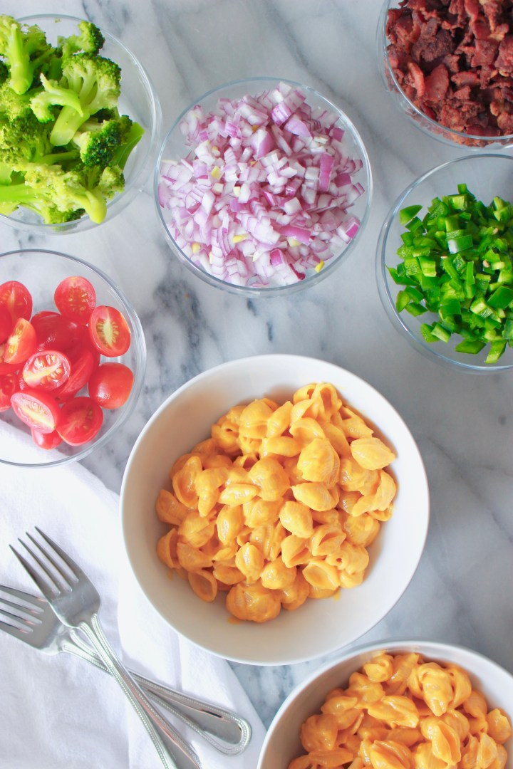 mac and cheese toppings for a diy mac and cheese bar