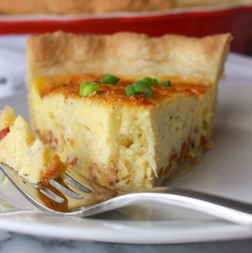 fluffy baked quiche