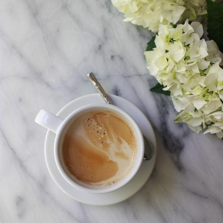 coffee + hydrangeas
