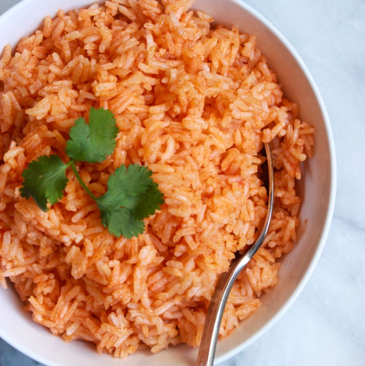 bowl of red spanish rice