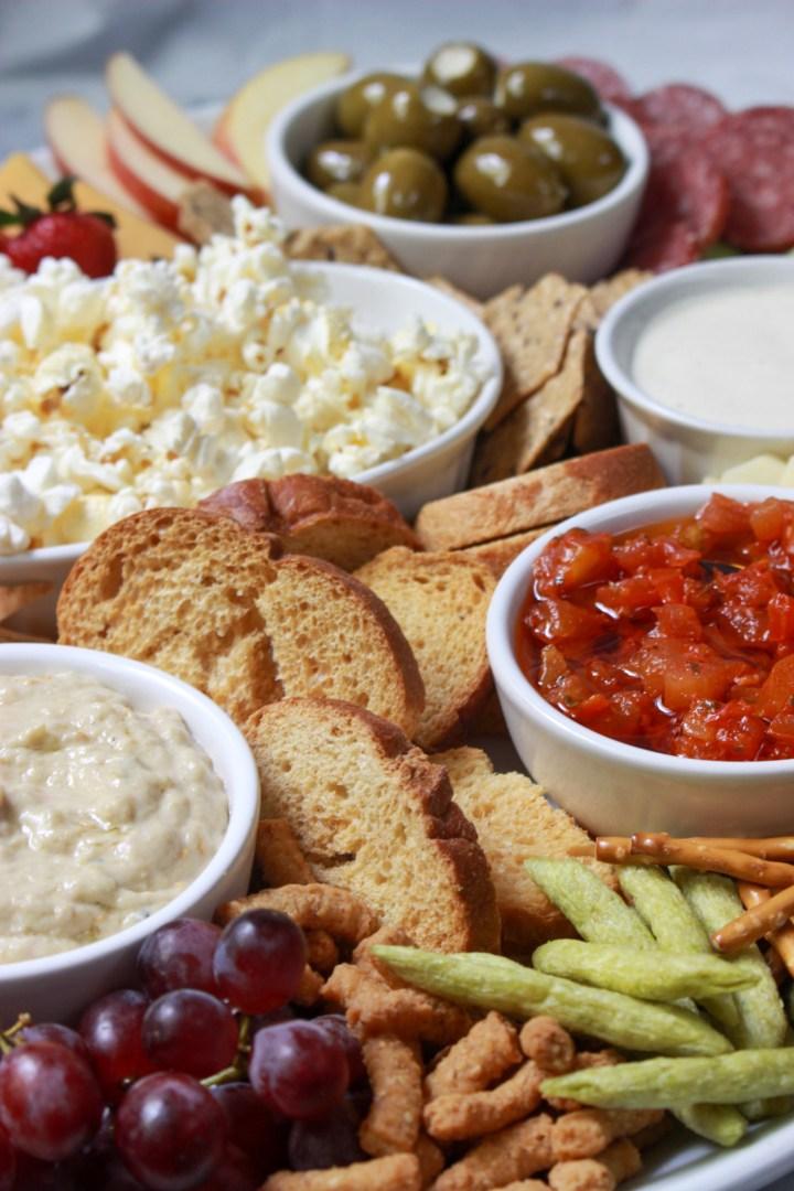 snack foods for grazing platter