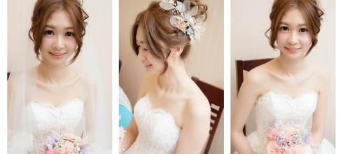 2018夢幻新娘造型首選  森林系乾燥花造型正夯  精緻日系新娘髮妝設計